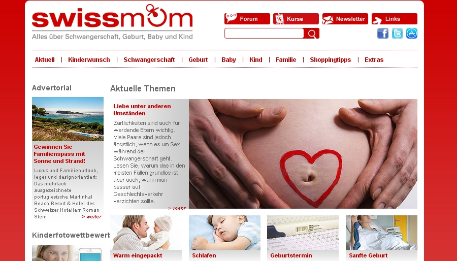 Swissmom Alles über Schwangerschaft, Kinderwunsch, Geburt, Baby und Kind